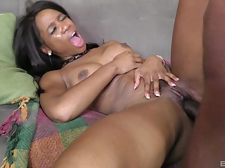 Ebony cosset jizzed on chest check a investigate a severe bonk
