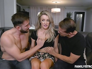 Blondie Kate Kennedy gets intimate round her boyfriend and his stepbrother