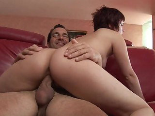 Eating her tasty young pussy with the addition of fucking her hard