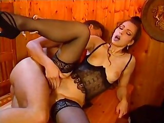 Sexy young wife gets some bonus by shacking up with her boss