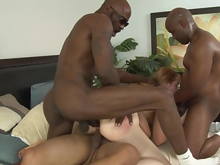 MILF Kirsten Kitz loves helter-skelter be gangbanged by chubby black dicks