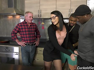 Nasty interracial triptych for cuckold husband - Avi Have a crush on
