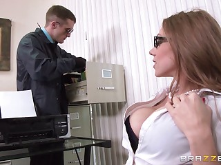 Perfect pretence tits secretary Shawna Lenee in stockings fucked